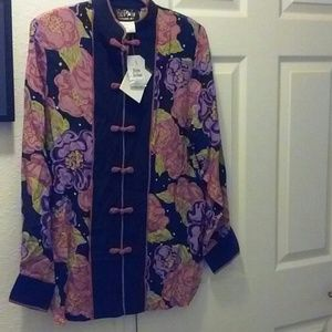 Ladies 100% Silk Shirt